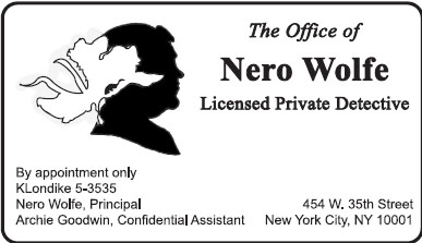 Wolfe Business Card Front