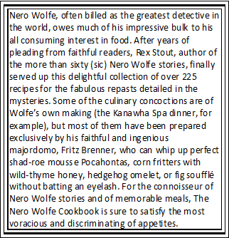 Cookbook Synopsis